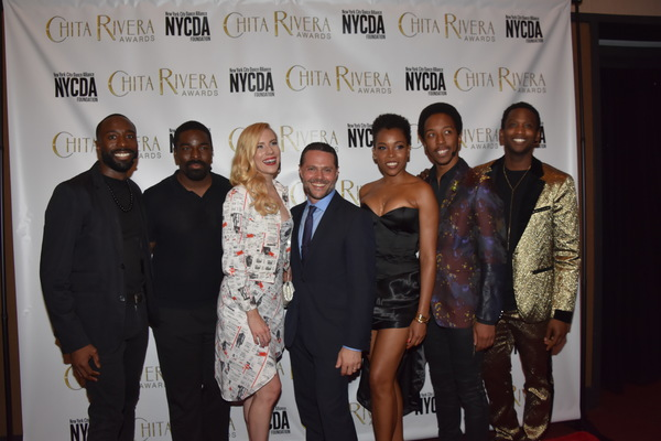 Joshua Bergasse and the cast of Smokey Joe's Cafe Photo