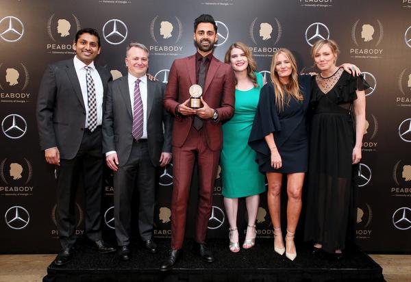 Prashanth Venkataramanujam, Hasan Minhaj and team Photo