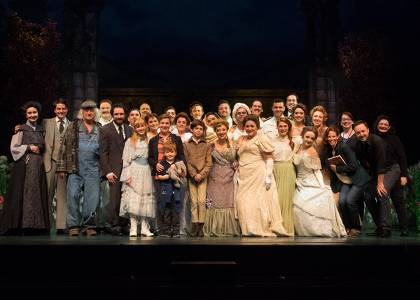 The cast and creative team of THE SECRET GARDEN with Daisy Eagan Photo