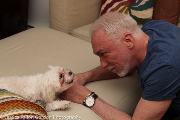 Tails of Broadway: Tony Nominee Patrick Page Poses with Georgie!