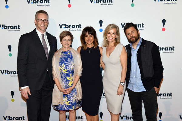 Honoree Charles P. Fitzgerald, Vibrant President and CEO Kimberly Williams, Actress Stephanie Szostak, Dr. Jennifer Ashton, and actor James Roday