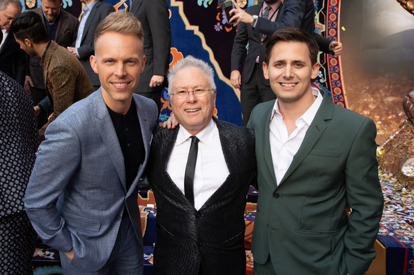 Justin Paul, Alan Menken and Benj Pasek