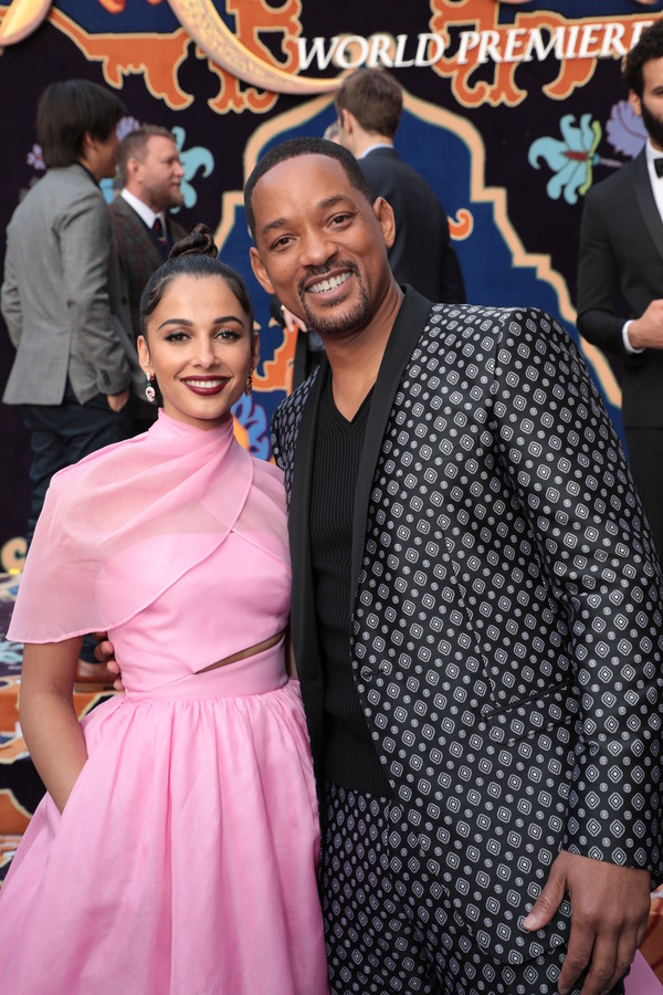 Naomi Scott and Will Smith Photo