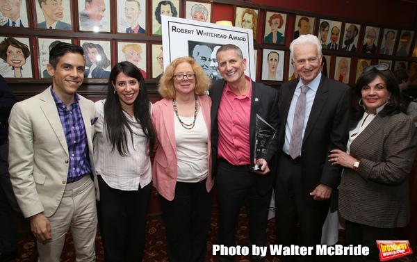 Matthew Lopez, Rachel Chavkin, Victoria Bailey, Tom Kirdahy, Tom Viertel and Charlotte St. Martin