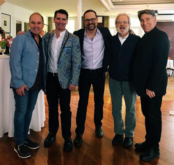 Photo Flash: Stephen Schwartz Toasts THE PROM Composers Matthew Sklar & Chad Beguelin