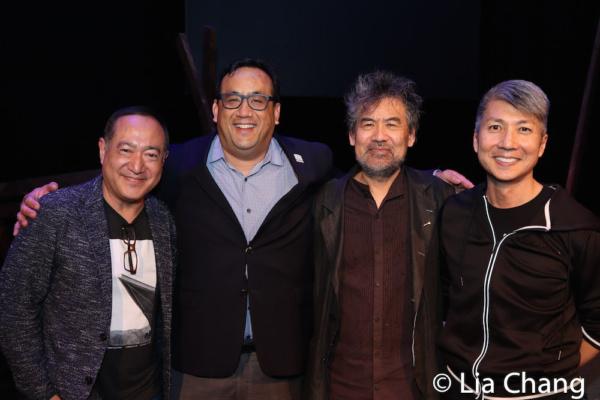 (May 6, 2019) Alan Muraoka, Max Chang, Spike 150 Board Member, David Henry Hwang and Jason Ma