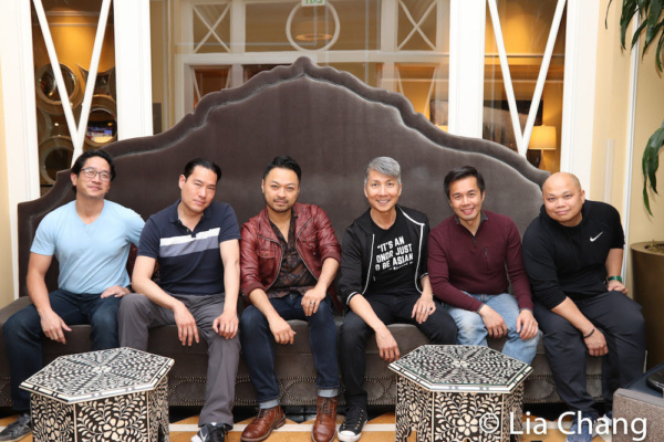 Eric Elizaga, Darren Lee, Billy Bustamante, Jason Ma, Steven Eng and Viet Vo in the lobby of the Kimpton Hotel Monaco Salt Lake City.