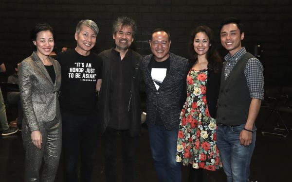 (May 6, 2019) Lia Chang, Jason Ma, David Henry Hwang, Alan Muraoka, Ali Ewoldt, Jonny Lee, Jr.