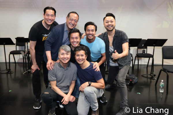 A PACIFIC OVERTURES reunion with Darren Lee, Alan Muraoka, Jason Ma, Steven Eng, Eric Bondoc, Kenway Kua and Billy Bustamante.