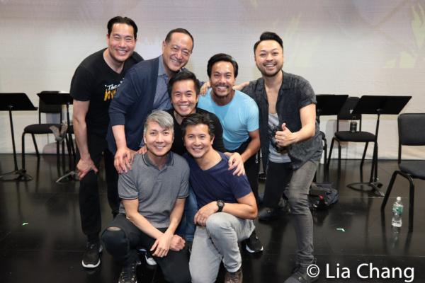 A PACIFIC OVERTURES reunion with Darren Lee, Alan Muraoka, Jason Ma, Steven Eng, Eric Bondoc, Kenway Kua and Billy Bustamante.