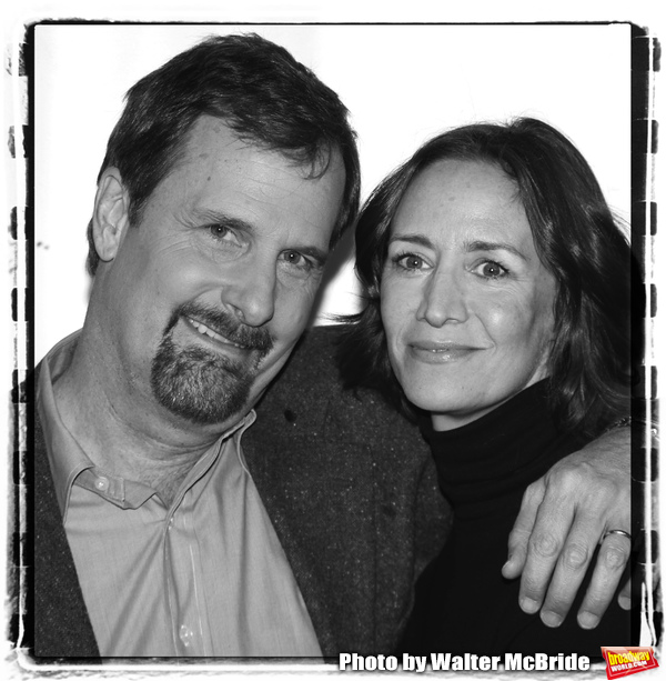"""Jeff Daniels & Janet McTeer attending the Meet & Greet for the new cast announcement for th Tony Award winning play """"GOD OF CARNAGE"""" at the Bernard B. Jacobs Theatre in New York City. February 16, 2010"""