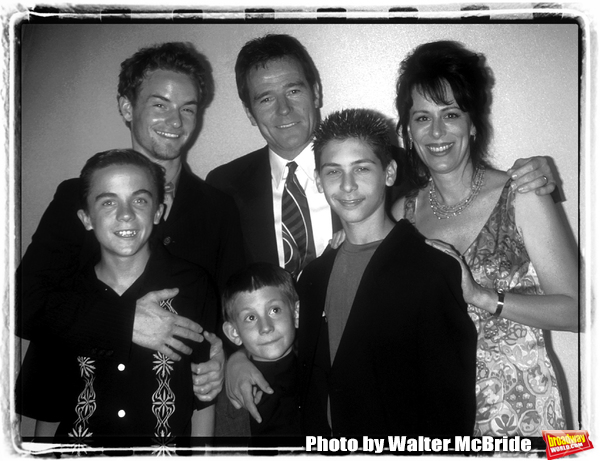 MALCOLM IN THE MIDDLE cast members Frankie Muniz, Chroistopher Masterson, Erik Per Sullivan, Bryan Cranston, Justin Berfield and Jane Kaczmarek attend the Fox TV Upfront Party at Lincoln Center omn May 18, 2000 in New York City.
