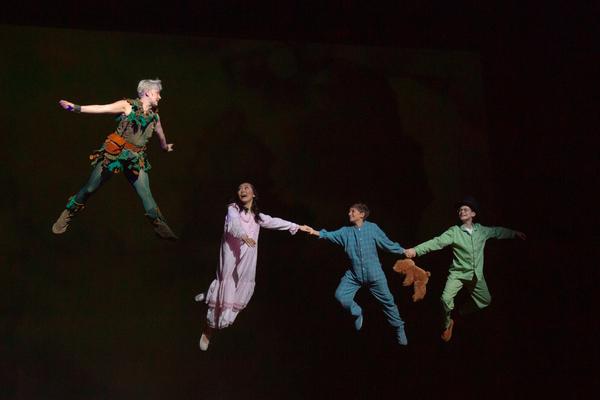 "Sarah Marie Jenkins as �""Peter Pan,"" Alyssa Sunew as �""Wendy,""  Photo"