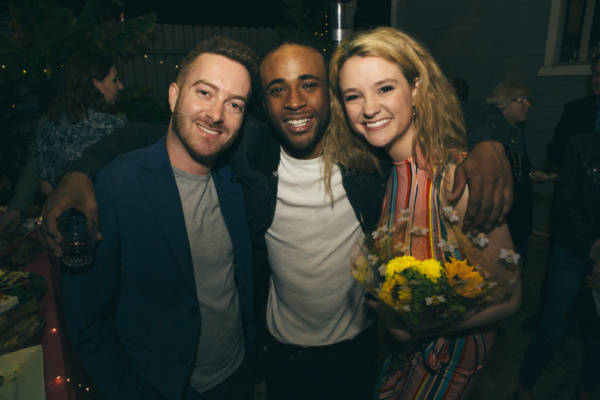 Director Brandon Baer with cast members Khylin Rhambo and Adrienne Visnic Photo