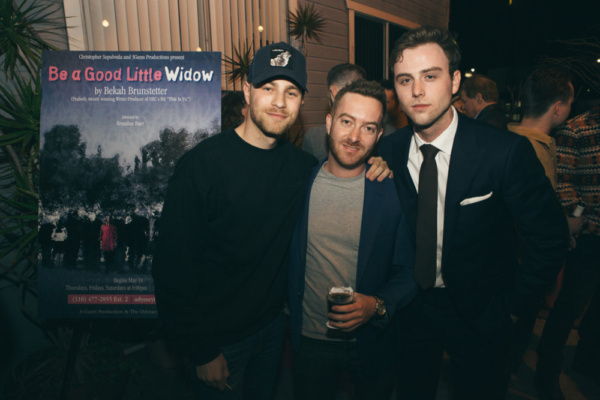 Cameron Fuller with Director Brandon Baer and Co-Producer Sterling Beaumon