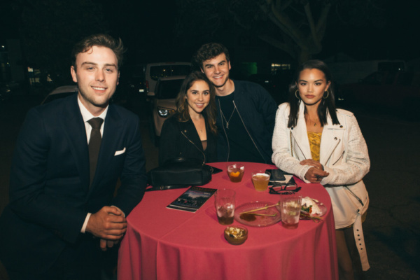 Co-producer Sterling Beaumon with Brenna Damico, Christian Weissmann, Paris Berelc Photo