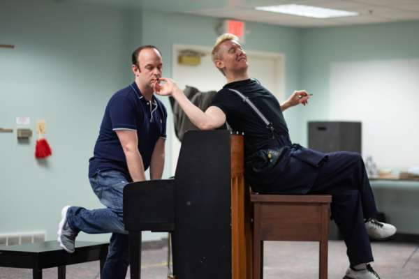 Photo Flash: In Rehearsal With Hope Summer Rep's MURDER FOR TWO