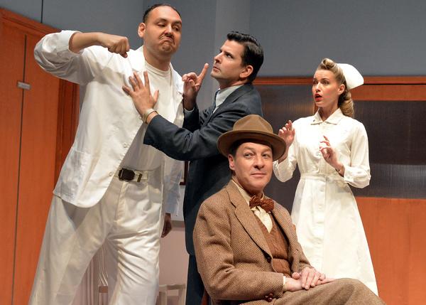 Nicholas Mongiardo- Cooper, Nick Gabriel, Roxane Hayward and French Stewart Photo