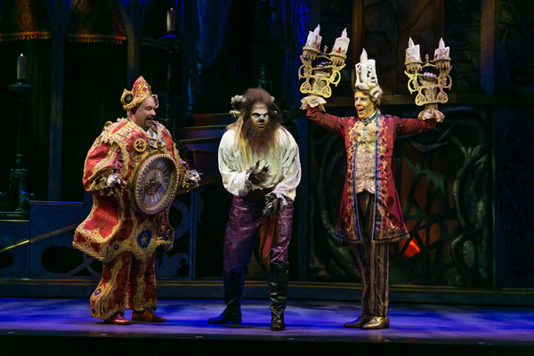 Kevin Ligon (Cogsworth), Tally Sessions (Beast), Gavin Lee (Lumiere)