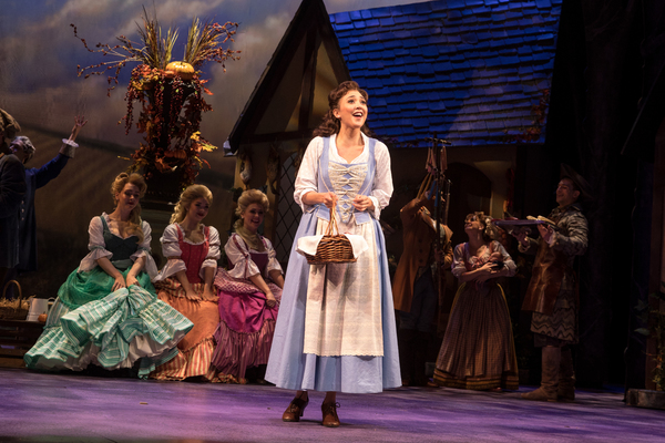 Belinda Allyn (Belle) and the cast of Paper Mill Playhouse's Disney Beauty and Photo