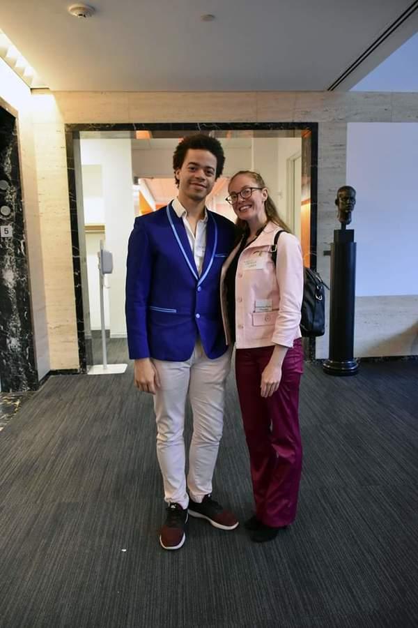 SAB's Steven Melendez and friend Photo