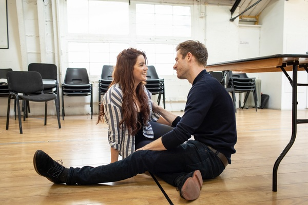 Photo Flash: First Look at Ashley Roberts and Lucie Jones in Rehearsal for WAITRESS
