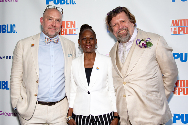 Patrick Willingham, Chirlane McCray, Oskar Eustis Photo