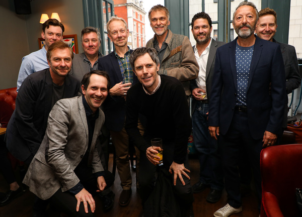 30 years of the character The Actor, in 'The Woman in Black' (L to R) Mark Hawkins, Ian Targett, John Duttine, Joseph Chance, Jamie Newell, Ben Porter, James Simmons, Daniel Coonan, Ian Reddington, Matt Connor
