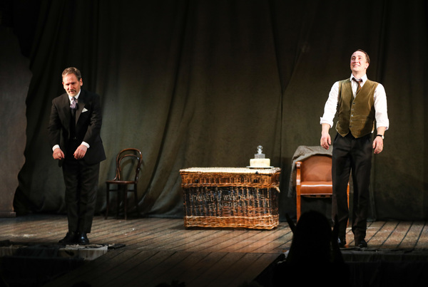 Stuart Fox (Arthur Kipps) Matthew Spencer (The Actor) during the curtain call Photo
