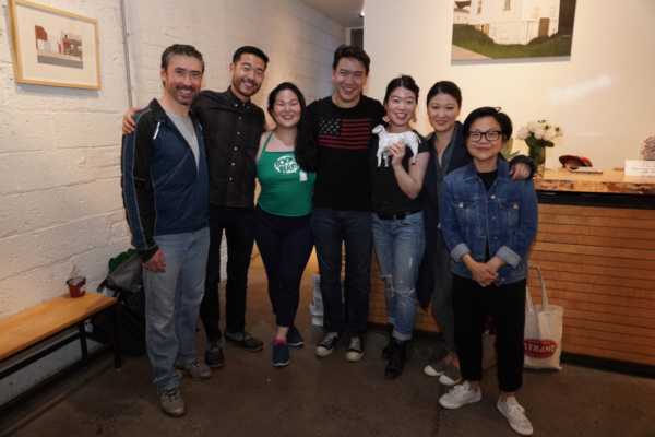 John D. Haggerty, Daniel K. Isaac, Holly Chou, Kenneth Lee, Playwright Zhu Yi, Jennifer Lim and Julyana Soelistyo