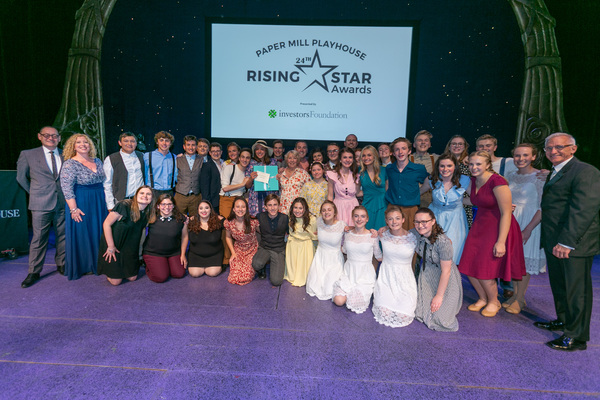 The cast of Madison High School's Bright Star with Paper Mill Playhouse Staff