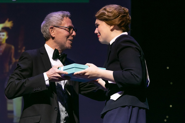 Patrick Parker (Paper Mill Playhouse Associate Artistic Director) and Kassi McMillan (Winner of Outstanding Performance by an Actress in a Leading Role)