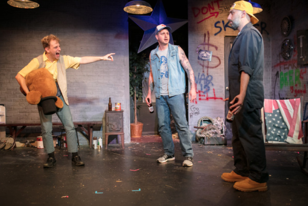 Photo by Joe Battista    (From left to right) Michael Villastrigo, Matt de Rogatis, and Chris Loupos in a scene from Lone Star at the 13th Street Repertory Theatre.