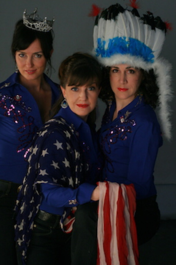 Photo by Ben Strothmann    The Chalks, (from left to right) Leenya Rideout, Mary Brienza and Kathryn Markey, in a scene from Lone Star at the 13th Street Repertory Theatre.