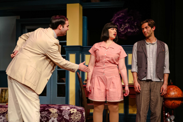 Sandy (Frank Roberts), Sorel (Deya Ozburn) & Simon (Rodman Bolek)