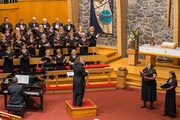 Morris Choral Society and MCS member Donna Anderle, soprano and Wendy Schramm, mezzo soprano singing the Jacques Offenbach's Bacarolle from Les Conte D'Hoffman