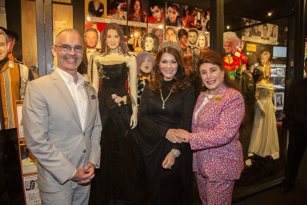 Mitch O'Farrell, Lisa Vanderpump and Donelle Dadigan with Exhibit Photo