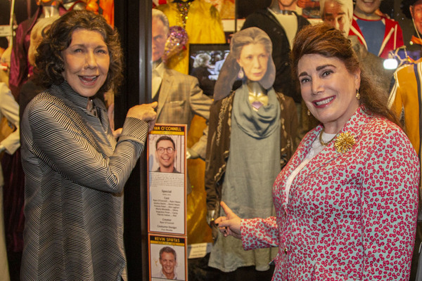 "Lily Tomlin and Donelle Dadigan with ""Grace and Frankie"" Exhibit Photo"