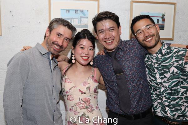 John D. Haggerty, Playwright Zhu Yi, Kenneth Lee and Daniel K. Isaac Photo