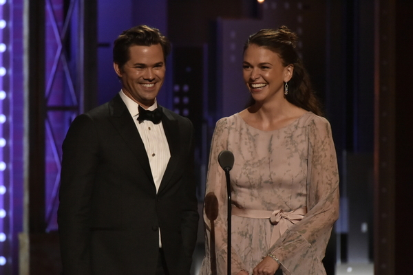 Andrew Rannells and Sutton Foster Photo