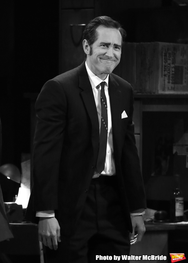 "Bertie Carvel during the Broadway Opening Night Curtain Call for ""Ink"" at the Samuel  Photo"