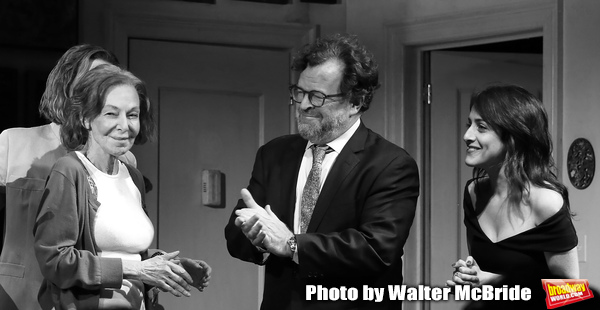 Elaine May, Kenneth Lonergan and Lila Neugebauerduring the Opening Night Curtain Call Photo