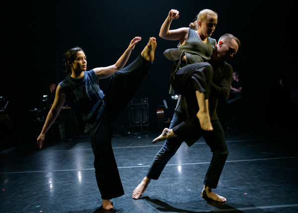 "Doug Varone Dancers Aya Wilson, Jake Bone and Whitney Dufrene in ""shelter"" from ""in t Photo"