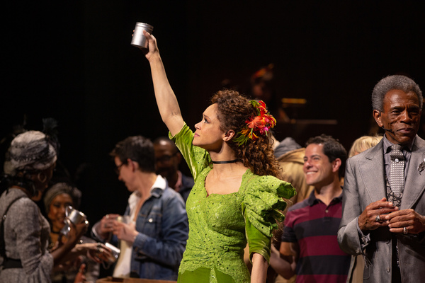 Amber Gray and the Cast of HADESTOWN