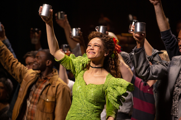 Amber Gray, Andre De Shields, and the Cast of HADESTOWN