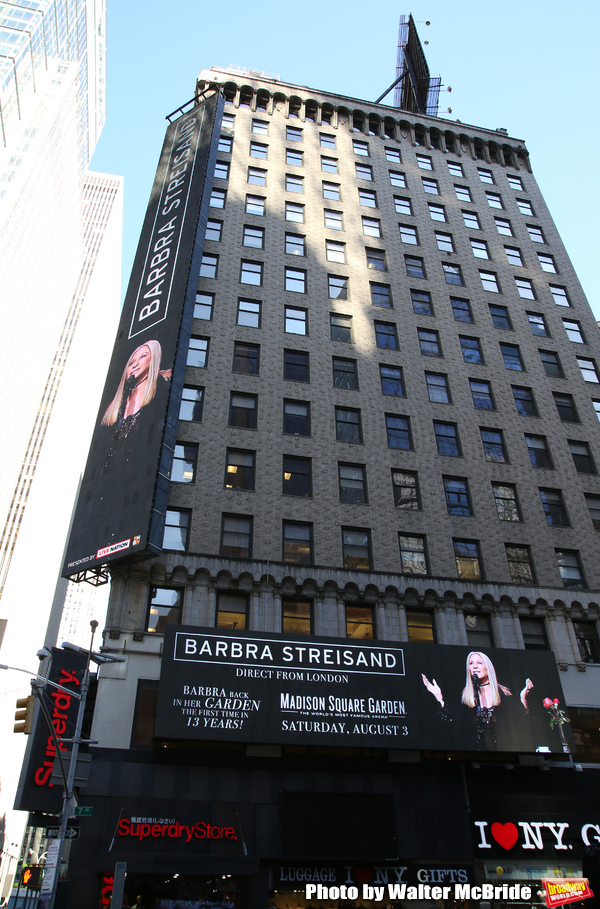 Up on the Marquee: Barbra Streisand at Madison Square Garden