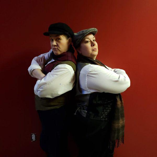 Theresa Dombrowski and Lana Jeppsen Carlson in BASKERVILLE.