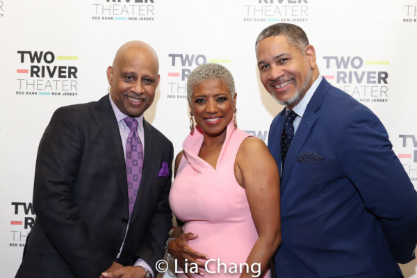 Ruben Santiago-Hudson, Marva Hicks and her husband, Akwasi Taha