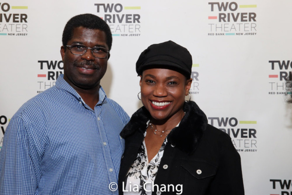 Crossroads Theatre Company''s Artistic Director Marshall Jones, III and his wife, Chantal Jean-Pierre
