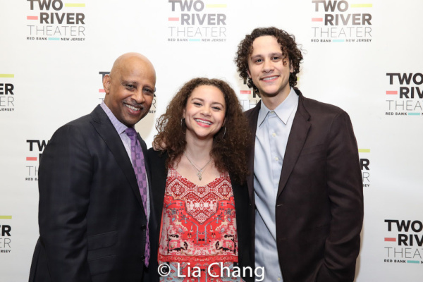 Ruben Santiago-Hudson with his daughter, Lily Santiago-Hudson and Trey Santiago-Hudson